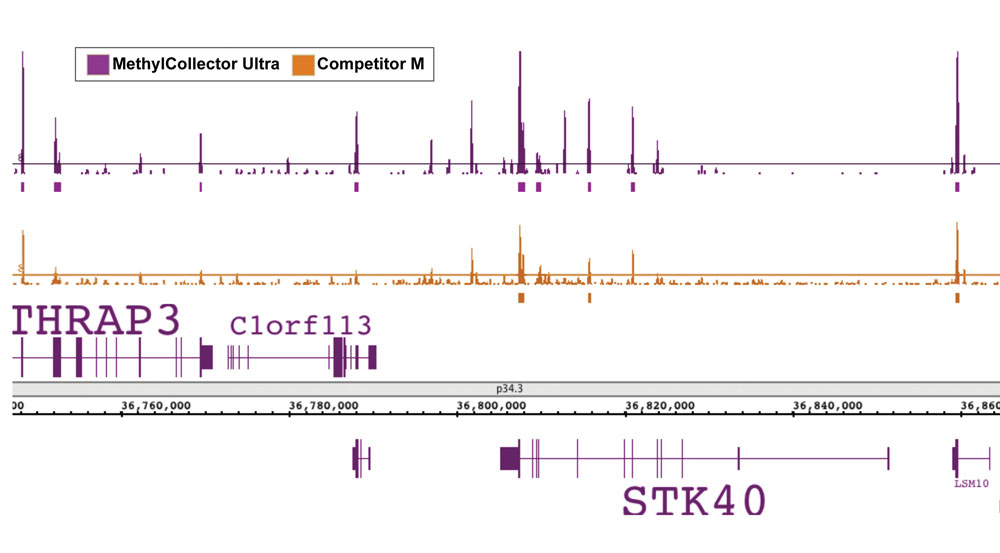 Next-Gen sequencing data generated using MethylCollector Ultra enriched DNA shows improved sensitivity