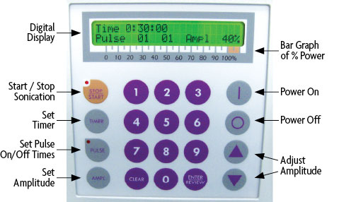 EpiShear Sonicator Digital Display and Keypad