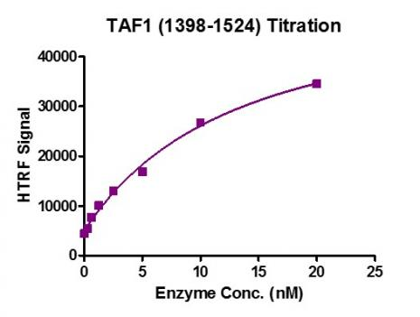 HTRF Assay for Recombinant TAF1 (1398-1524) protein activity.