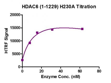 HTRF assay for HDAC6 (H230A) activity.